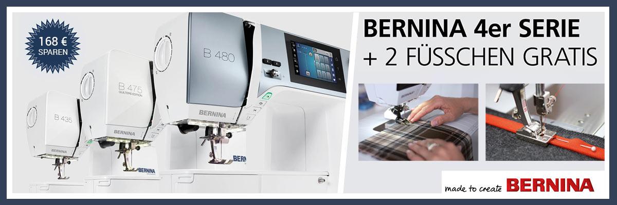 1 Bernina 4er-Serie + Nähfüße