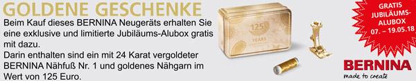 Bernina Muttertags-Aktion 2018 - Goldene Geschenke