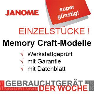 Gebrauchtgerät der Woche - Janome Memory Craft
