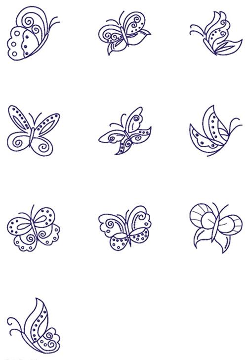 nähPark Stickmuster Spring Butterflies Übersicht